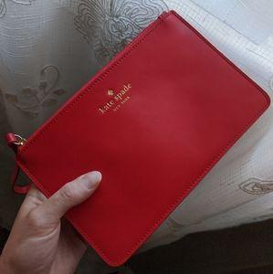 BRAND NEW Kate Spade New York Red Clutch Wristlet